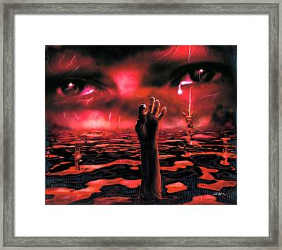The Lake Of Fire Framed Print by Bill Stephens