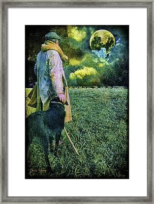 Shepherd And Moon Framed Print