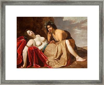Shepherd And Sleeping Girl, 1623-30 Framed Print by Jan van Bijlert or Bylert