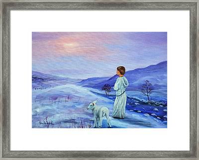 Shepherd Boy Framed Print