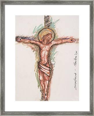 Shepherd Framed Print by Deryl Daniel Mackie