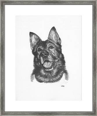 Shepherd Framed Print by Jonathan W Brown