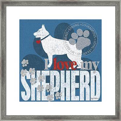 Shepherd Framed Print by Kathy Middlebrook