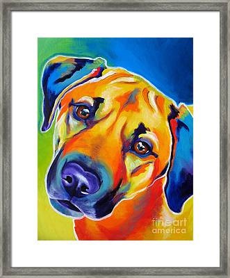 Rhodesian Ridgeback - Puppy Dog Eyes Framed Print by Alicia VanNoy Call
