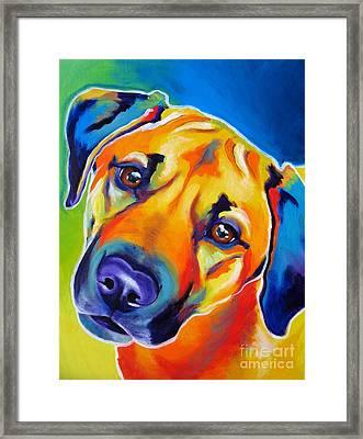 Rhodesian Ridgeback - Puppy Dog Eyes Framed Print