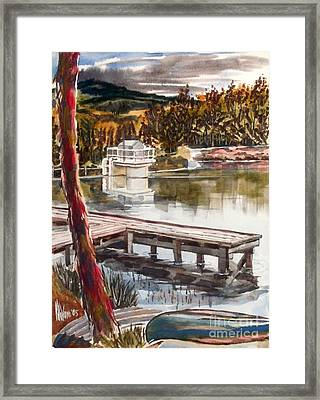 Shepherd Mountain Lake In Twilight Framed Print by Kip DeVore