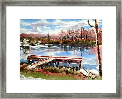 Shepherd Mountain Lake In Winter Framed Print by Kip DeVore