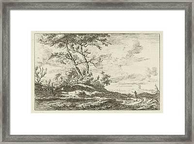 Shepherd On A Country Road, Carel Lodewijk Hansen Framed Print by Artokoloro