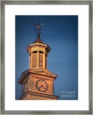 Shepherd University - Mcmurran Clock Tower At Twilight Framed Print by Julia Springer