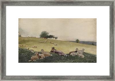 Shepherdess Of Houghton Farm  Framed Print by Celestial Images