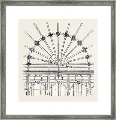 Shepherds Electric Clock For The Crystal Palace Hands Framed Print by English School