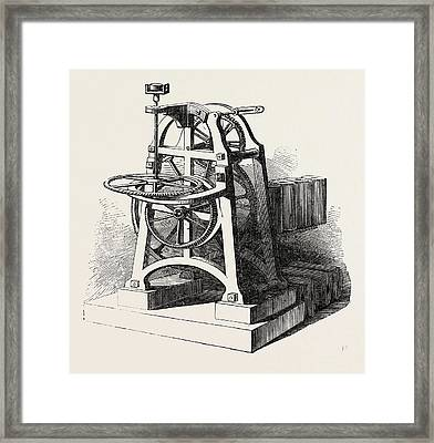 Shepherds Electric Clock For The Crystal Palace Mechanism Framed Print by English School