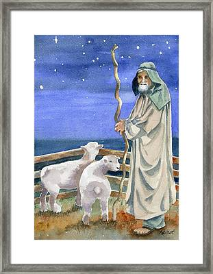 Shepherds Watched Their Flocks By Night Framed Print