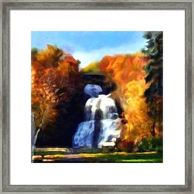 Shequaga Falls Framed Print by Gregory Damian Green