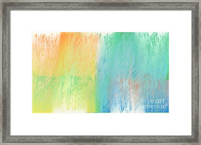 Sherbet Abstract Framed Print by Andee Design