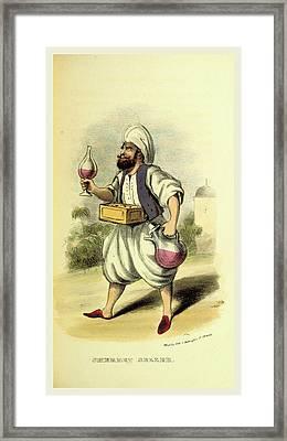 Sherbet Seller, Damascus And Palmyra Framed Print