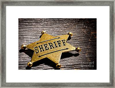 Sheriff Badge Framed Print by Olivier Le Queinec