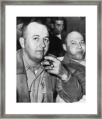 Sheriffs Arraigned For Murder Framed Print by Underwood Archives