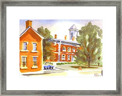Sheriffs Residence With Courthouse Framed Print by Kip DeVore