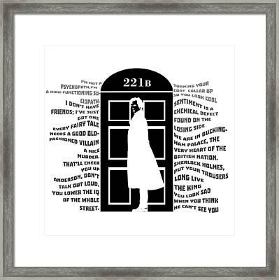 Sherlock 221b Framed Print by Nino Mchedlidze