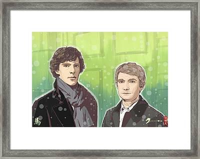 Sherlock And Watson Framed Print by Akyanyme