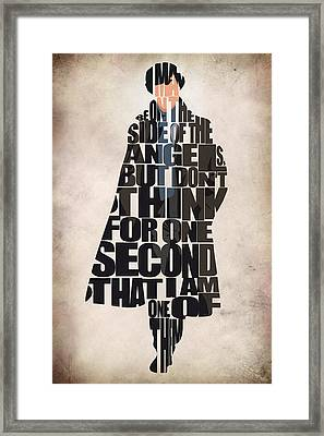 Sherlock - Benedict Cumberbatch Framed Print by Ayse Deniz