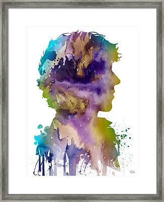 Sherlock Holmes 2 Framed Print by Watercolor Girl