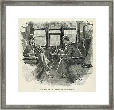 Sherlock Holmes And Dr. Watson Framed Print by British Library