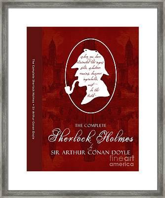 Sherlock Holmes Book Cover Poster Art 1 Framed Print