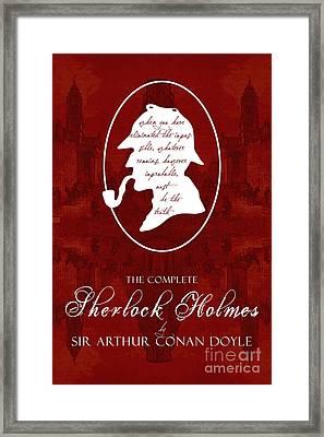 Sherlock Holmes Book Cover Poster Art 2 Framed Print