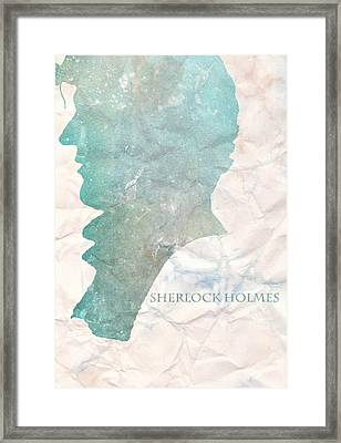 Sherlock Holmes On Paper Framed Print by Georgia Fowler
