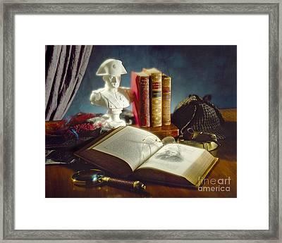 Sherlock Holmes Napoleon Framed Print by Martin Konopacki