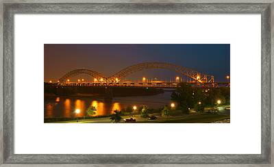 Sherman Minton Bridge - New Albany Framed Print by Mike McGlothlen