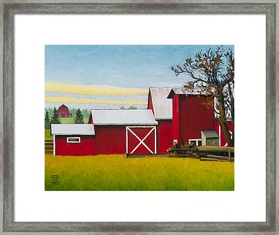 Sherman Squash Farm Framed Print