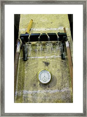 Sherry Glasses And Tools Framed Print by Louise Murray
