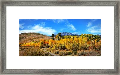 Sherwin Creek Panorama  Framed Print