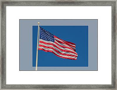 She's A Grand Old Flag Framed Print by Floyd Hopper