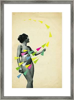 She's A Whirlwind Framed Print