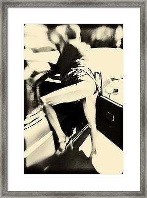 She's All Legs Framed Print by Nancy Taylor