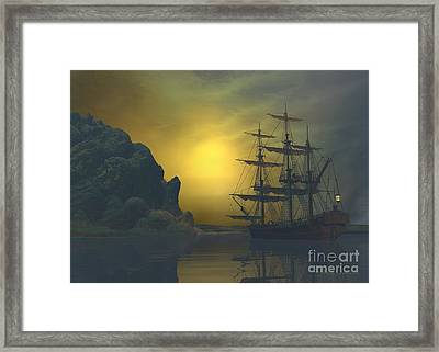 She's Dreaming Framed Print by Sipo Liimatainen