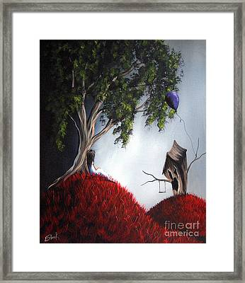 She's Just An Illusion By Shawna Erback Framed Print by Shawna Erback