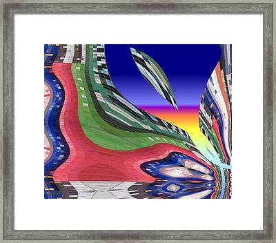 She's Leaving Home Abstract Framed Print by Alec Drake