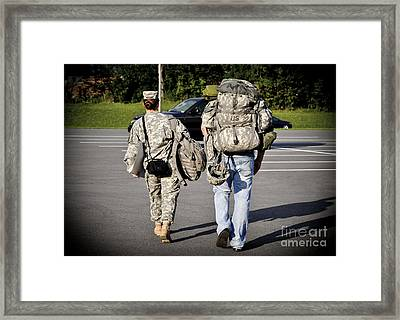 Framed Print featuring the photograph She's My Hero by Gina Savage