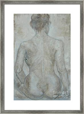 Framed Print featuring the painting She's The One by Delona Seserman