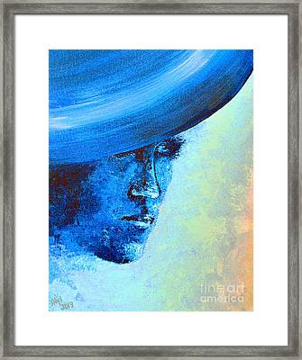Shi Di Has The Blues Poster Framed Print by Alys Caviness-Gober