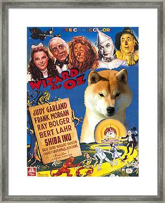 Shiba Inu Art Canvas Print - The Wizard Of Oz Movie Poster Framed Print