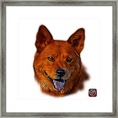 Framed Print featuring the mixed media Shiba Inu Dog Art - 8555 - Wb by James Ahn