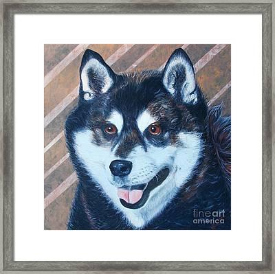 Shiba Inu Framed Print by PainterArtist FINs husband Maestro