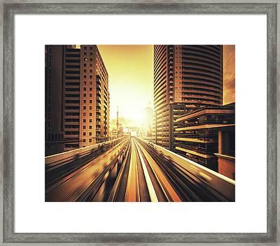 Shibaura Business Area In Tokyo - Japan Framed Print by Franckreporter
