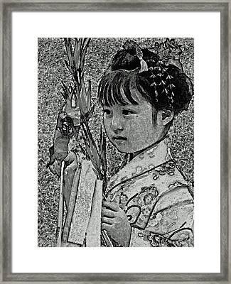 Shichi-go-san Girl Framed Print